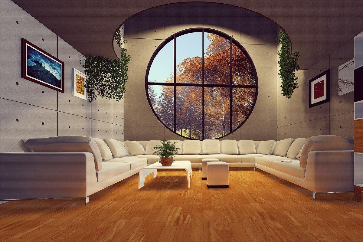 Unutrašnjost drvene montažne kuće